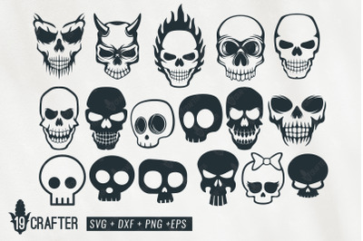 cute and spooky skull svg bundle