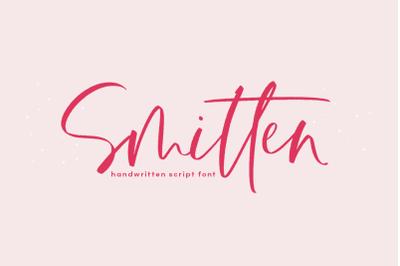 Smitten - Handwritten Script Font