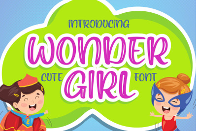 Wonder Girl - Cute Font