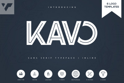 Kavo Inline + 6 Logo Templates