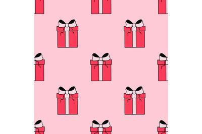 Presents seamless repeat pattern.Valentine's day pattern.Birthday patt