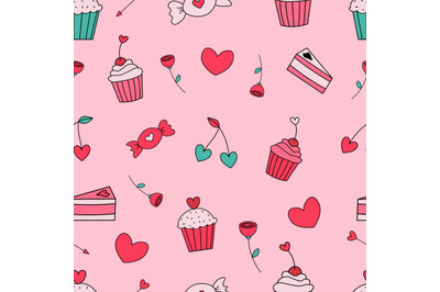 Valentine's day seamless repeat pattern