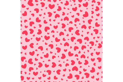 Red hearts seamless repeat pattern.Valentine's day seamless pattern.