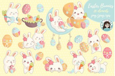 Easter kawaii bunnies
