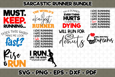 Sarcastic Runner Bundle SVG Cut Files