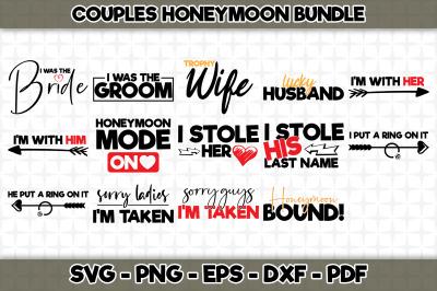 Couples Honeymoon Bundle - 14 Designs Included - SVG Cut Files