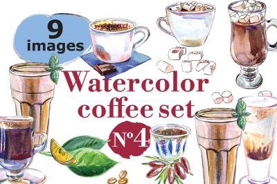 Watercolor coffee set-4