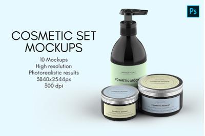 Cosmetic Set Mockups - 10 views