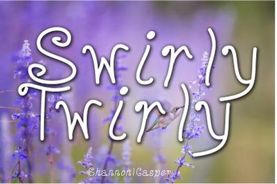 Swirly Twirly Handwritten Fun Font