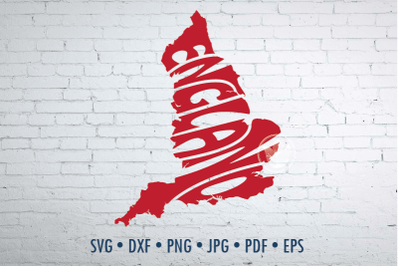 England Word Art, Svg Dxf Eps Png Jpg, Words in map shape