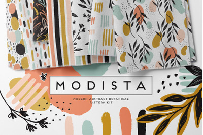 Modista Abstract Botanical Surface Pattern Kit