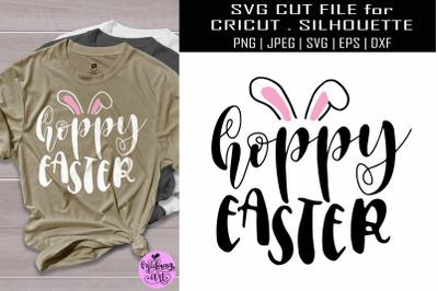 Hoppy easter svg, easter shirt svg