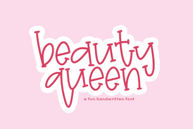 Beauty Queen - Fun Handwritten Font