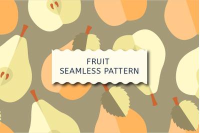 Fruit vector seamless pattern.