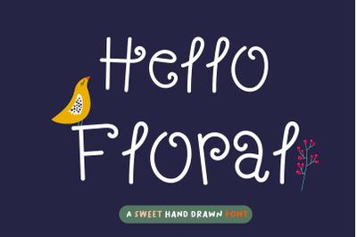 Hello Floral Handwritten- cute kid font
