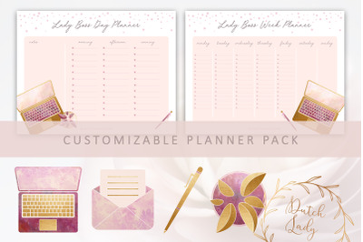 Lady Boss Planner Pack Templates