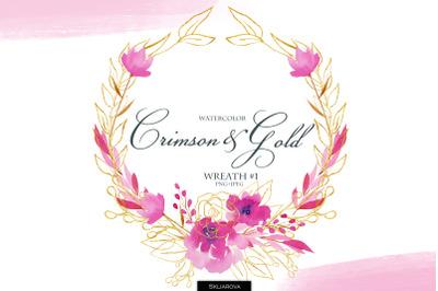 Crimson & Gold. Wreath #1