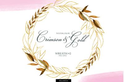 Crimson & Gold. Wreath #2