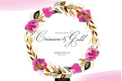 Crimson & Gold. Wreath #3