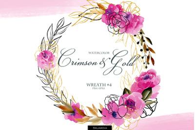 Crimson & Gold. Wreath #4