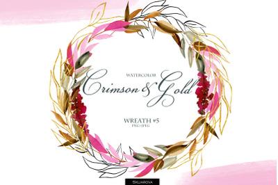 Crimson & Gold. Wreath #5