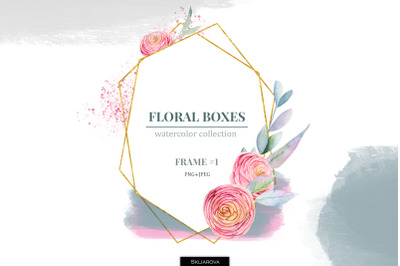 Floral boxes collection. Frame #1