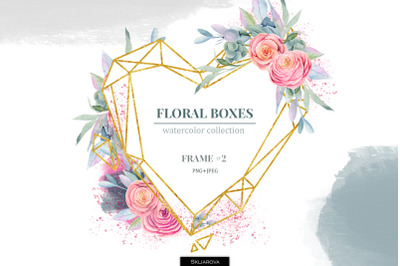 Floral boxes collection. Frame #2