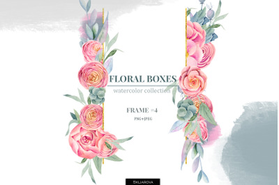 Floral boxes collection. Frame #4