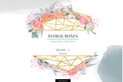 Floral boxes collection. Frame #5
