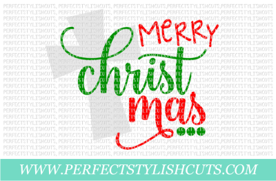 Merry Christmas - SVG, EPS, DXF, PNG Files For Cutting Machines