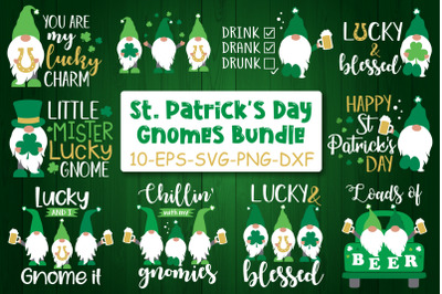 St Patricks Day Gnomes Bundle Svg