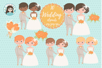wedding character cliparts