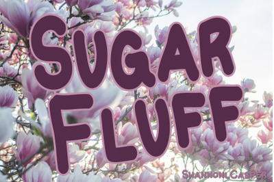 Sugar Fluff Handwritten Fun Font