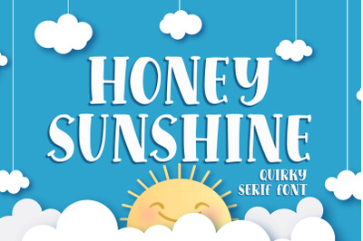 Honey Sunshine - a Quirky Serif Font