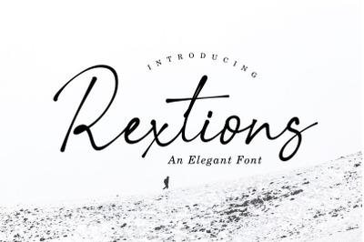 Rextions an elegant font