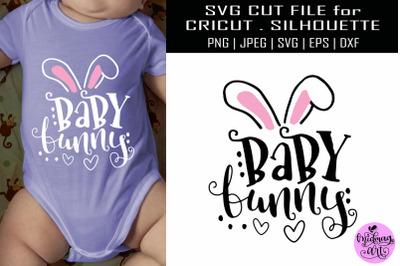 Baby bunny svg, easter shirt svg