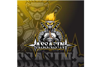 Assassin sport mascot logo design