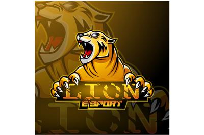 Angry lion sport logo design