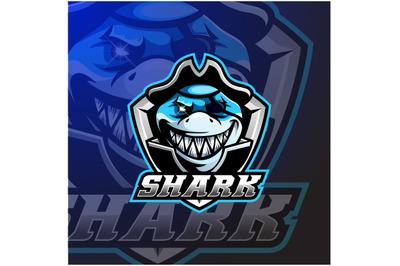 Pirates shark mascot logo design