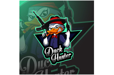 Duck hunter esport mascot logo design