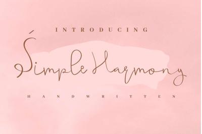simple harmony