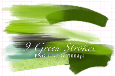 9 Green Strokes for St. Patricks