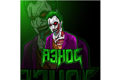 Cartoon joker mascot logo design