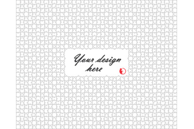 White puzzle design, Jigsaw template, Svg, Dxf, Png, Eps and Jpg files