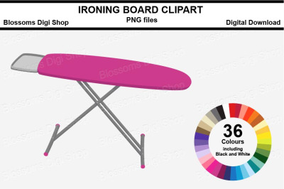 Ironing Board Sticker Clipart, 36 files, multi colours