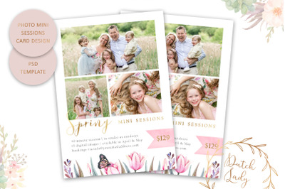 PSD Photo Session Card Template #59