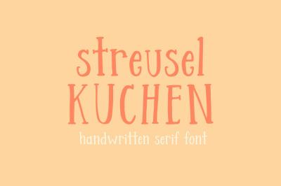 Streusel Kuchen Handwritten Font