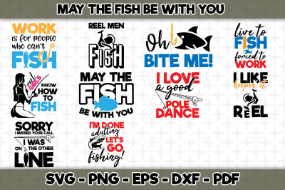 May The Fish Be With You SVG BUNDLE Cut Files