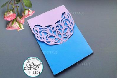 5x7 Wedding Pocket Envelope laser cutting template svg dxf digitals