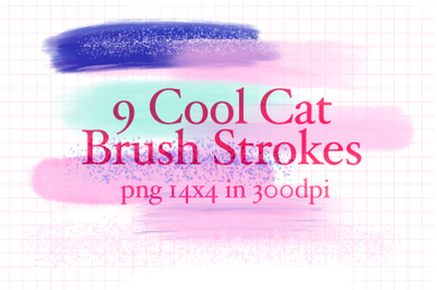 9 Cool Cat Brush Strokes